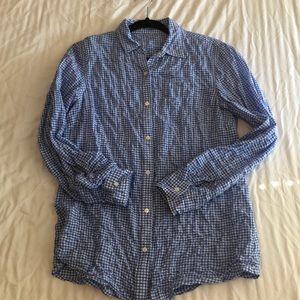 J.McLaughlin crinkle cotton shirt